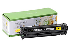 Replacement Yellow Toner Cartridge for HP CB542A 125A